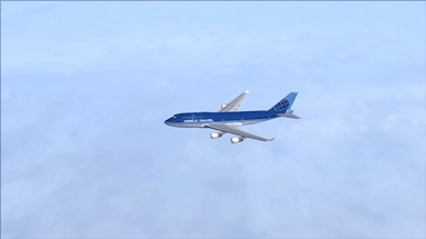 Over the North Atlantic Ocean!
