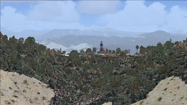 A lighthouse in Bejaia, Algeria (with the lighthouse a addon)