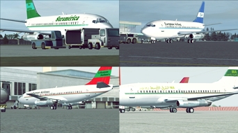 Check our new FSX freeware, a improved 737-200 Adv with fictitious textures for small independent airlines! check at our Downloads section (picture published December 31st, 2017)
