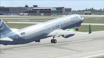 Archive Picture of the Day: A New Zealand Boeing 737-800 Taking Off at Auckland Intl, New Zealand! did you check our new textures for the default FSX Boeing 737-800 figuring typical colors worldwide? (picture published Jan. 4, 2015)