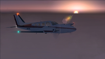 Archive Picture of the Day: Test-Flight With the Baron 58 At Dawn!