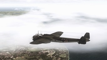 Dornier Do 17 Schnellbomber passing the cliffs of Dover during the Battle of England (WW2) (picture published November 16th, 2019)