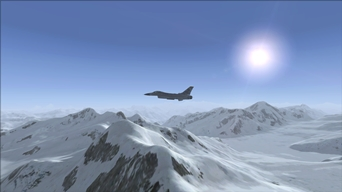 Archive Picture of the Day: Training With a F-16 Over Swiss Alps!