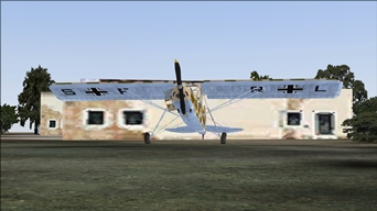 A German Fieseler Fi-156C Storch in northern Libya, by April 1941, near a makeshift commander post of the Afrika Korps (that picture was also published in the MSFS Screen Shot Forum of the site FlightSim.com) (picture published March 20th, 2020)