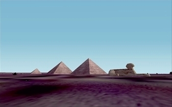 The Great Pyramids in Egypt, an illustration for the tale The Great Locations in the World as Seen in FS!