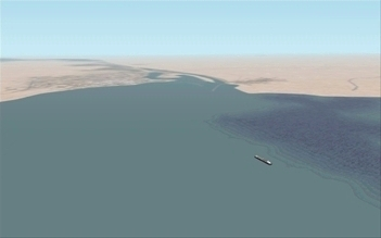 The Suez Canal, an illustration for the tale The Great Locations in the World as Seen in FS!