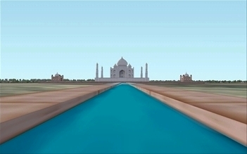 The Taj Mahal in Agra (India), an illustration for the tale The Great Locations in the World as Seen in FS!